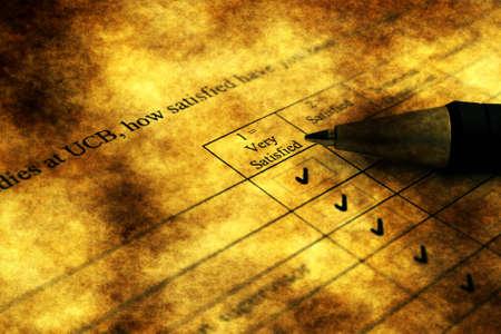 Grunge survey form photo