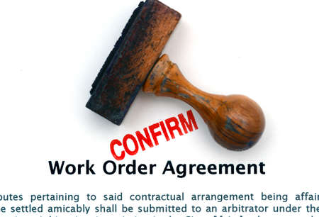 Work agreement photo