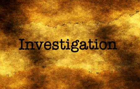 uncovering: Investigation grunge text