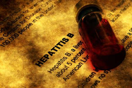 hepatitis: Hepatitis and vial concept Stock Photo
