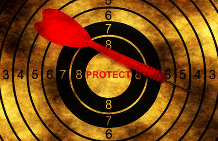 protect: Protect grunge  target Stock Photo