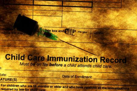 immunization: Immunization grunge concept