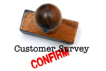 confirm: Customer survey confirm