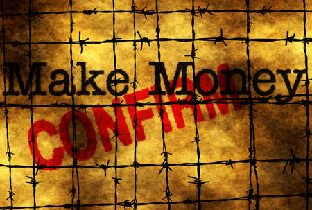 confirm confirmation: Make money concept Stock Photo