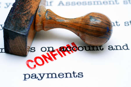 confirm confirmation: payment confirm