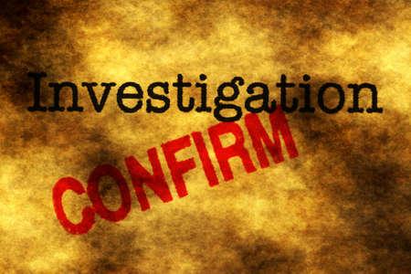 confirm: Investigation confirm Stock Photo