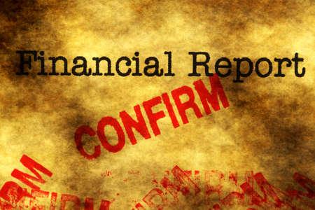 confirm confirmation: Financial report - confirm