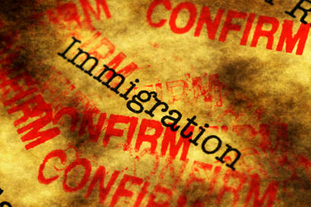 immigrate: Immigration confirm Stock Photo