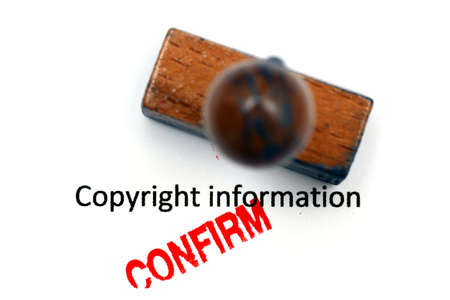 confirm confirmation: Copyright info - approved