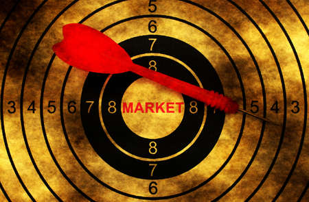 targeted: Market grunge  target Stock Photo