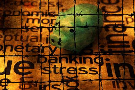 debt trap: Banking stress concept