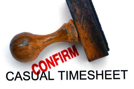 Timesheet confirm