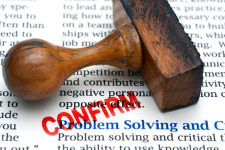 problem: Problem solving confirm stamp