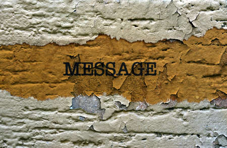 message text: Message text on grunge background