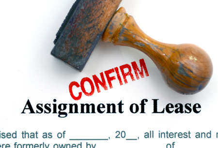 assignment: Assignment of lease Stock Photo