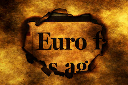 paper hole: Euro and burning paper hole