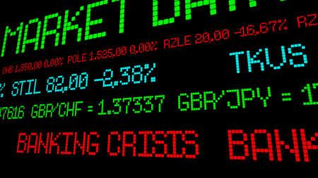 banking crisis: Banking crisis Stock Photo