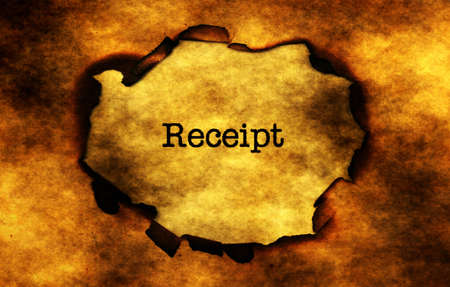 money to burn: Receipt on burning  paper hole