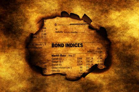 indices: Bond indices on grunge background