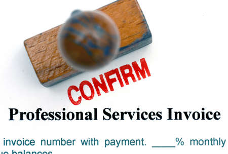 validation: Service invoice confirm Stock Photo