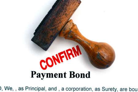 confirm: Payment bond confirm