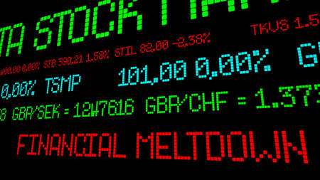 share prices: Financial meltdown stock ticker