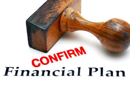 confirm: Financial plan confirm