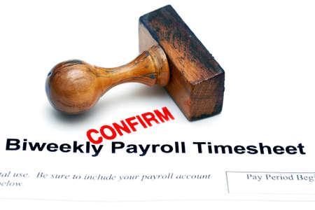Payroll timesheet Stock Photo