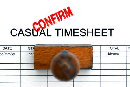 Casual timesheet confirm Stock Photo