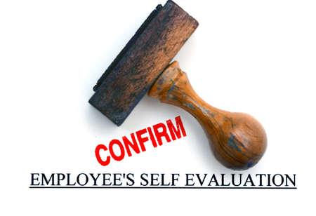 confirm: Employee evaluation confirm Stock Photo