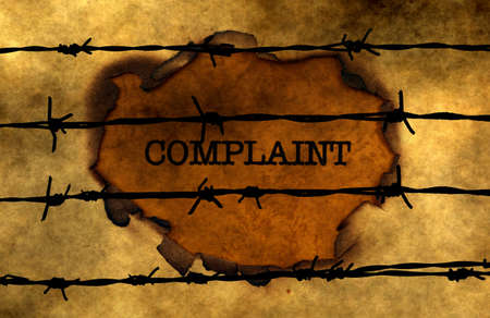 barbwire: Complaint concept against barbwire