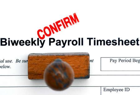 payroll: Payroll timesheet Stock Photo