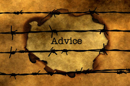 barbwire: Advice concept against barbwire