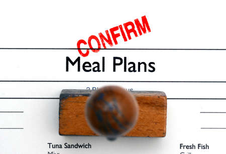 confirm: meal plan confirm