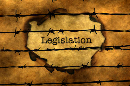 data dictionary: Legislation concept against barbwire