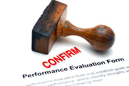 performance: Performance evaluation form