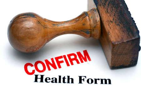 confirm: health form confirm