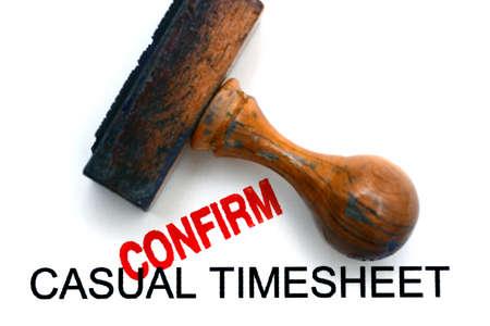 timekeeping: Timesheet confirm