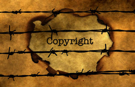 barbwire: Copyright concept against barbwire