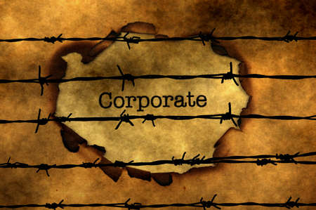 barbwire: Corporate concept against barbwire