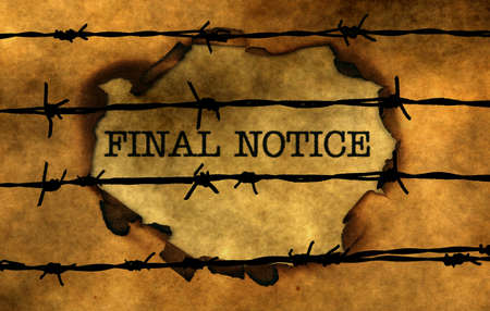 barbwire: Final notice concept against barbwire