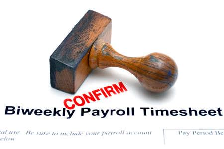 timekeeping: payroll timesheet