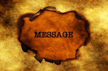 paper hole: Message paper hole grunge concept