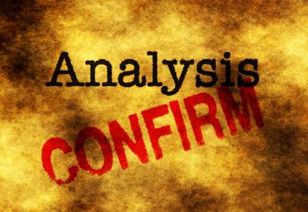 confirm: Analysis confirm