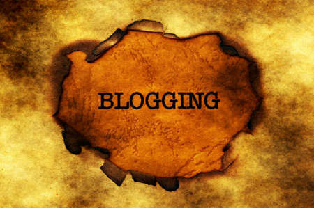 paper hole: Blogging text on paper hole