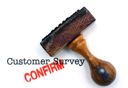 satisfied customer: Customer survey confirm