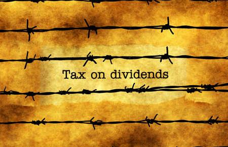 Steuer auf Dividenden-Konzept