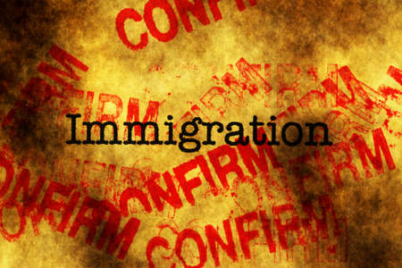 confirm: Immigration confirm Stock Photo