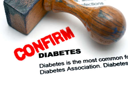 confirm confirmation: Diabetes confirm Stock Photo