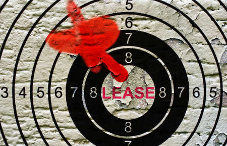 lease: Lease target on grunge background Stock Photo